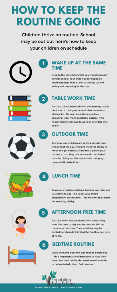 How To Create A Daily Routine For Kids At Home Enabling Adaptations